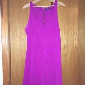 Cynthia Rowley Halter Fuchsia Dress with Pockets